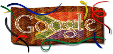 Google Logo: 2011 Freedom Day South Africa - Commemorate the first post-apartheid elections in 1994.