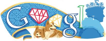 Google Logo: Diamond Jubilee of Elizabeth II