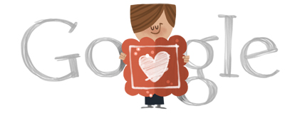 "Google Logo: Happy 2012 Valentine's Day! ""Cold, Cold Heart"" performed by Tony Bennett courtesy of Columbia Records and Sony/ATV."