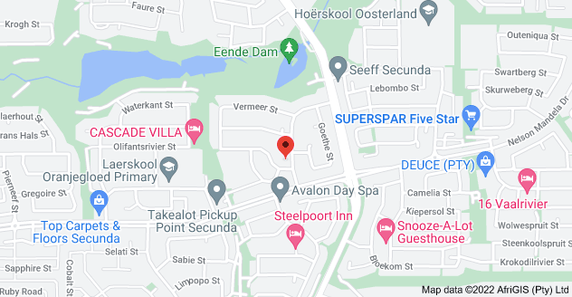 Map of 5 Wagner St, Secunda, 2302